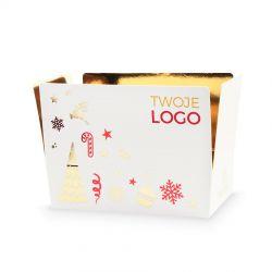 Czekoladki świąteczne Mini Ballotin White Red no.3 z logo firmy