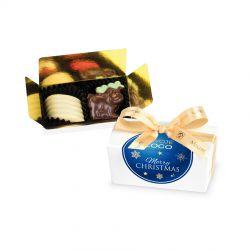 Czekoladki na Boże Narodzenie Mini Ballotin White no.1 z logo firmy