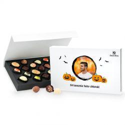 Praliny na Halloween Chocolate Box z Twoim zdjęciem Straaasznie fajny chłopak