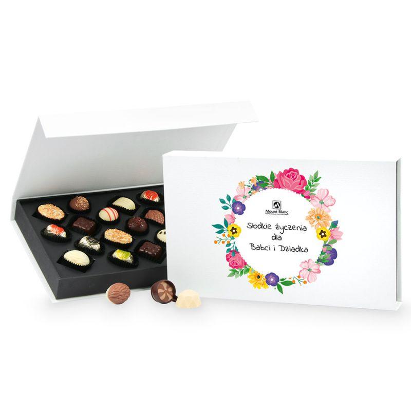 Prezent dla Babci i Dziadka Chocolate Box White