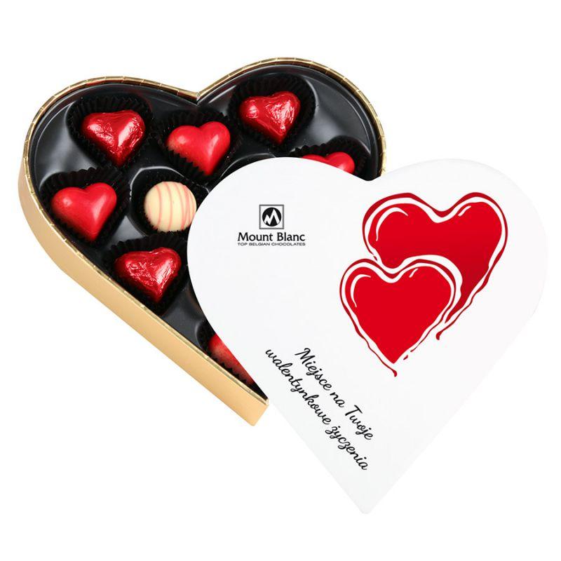 Czekoladki w kształcie serca Sweet Heart White Mini z Twoimi życzeniami
