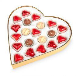Czekoladki na Walentynki Sweet Heart White Maxi z Twoimi życzeniami