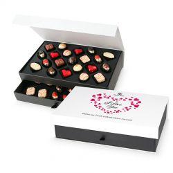Bombonierka na Walentynki Chocolate Tower I Love you z Twoimi życzeniami