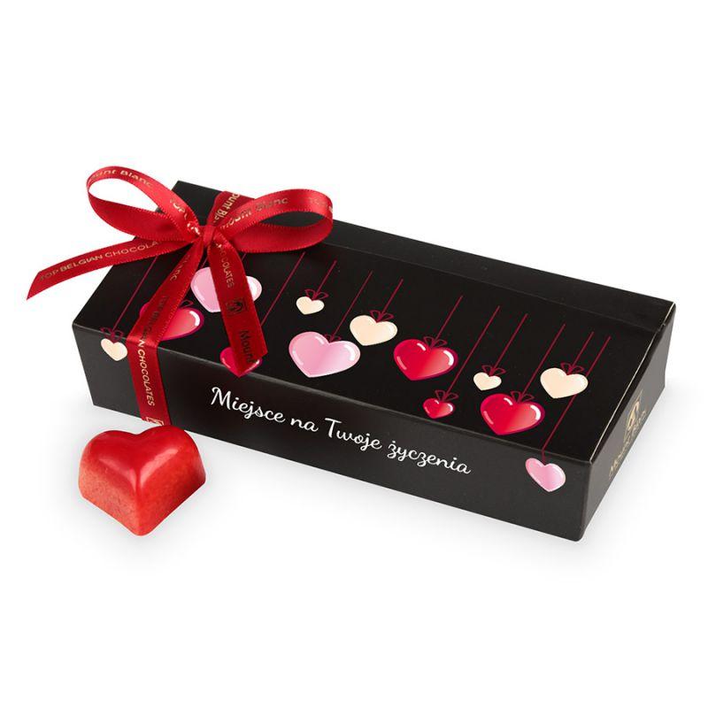 Czekoladki walentynkowe Mini Ballotin Black no.4 z Twoimi życzeniami