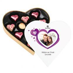 Czekoladki Sweet Heart White Mini z Twoim zdjęciem i życzeniami