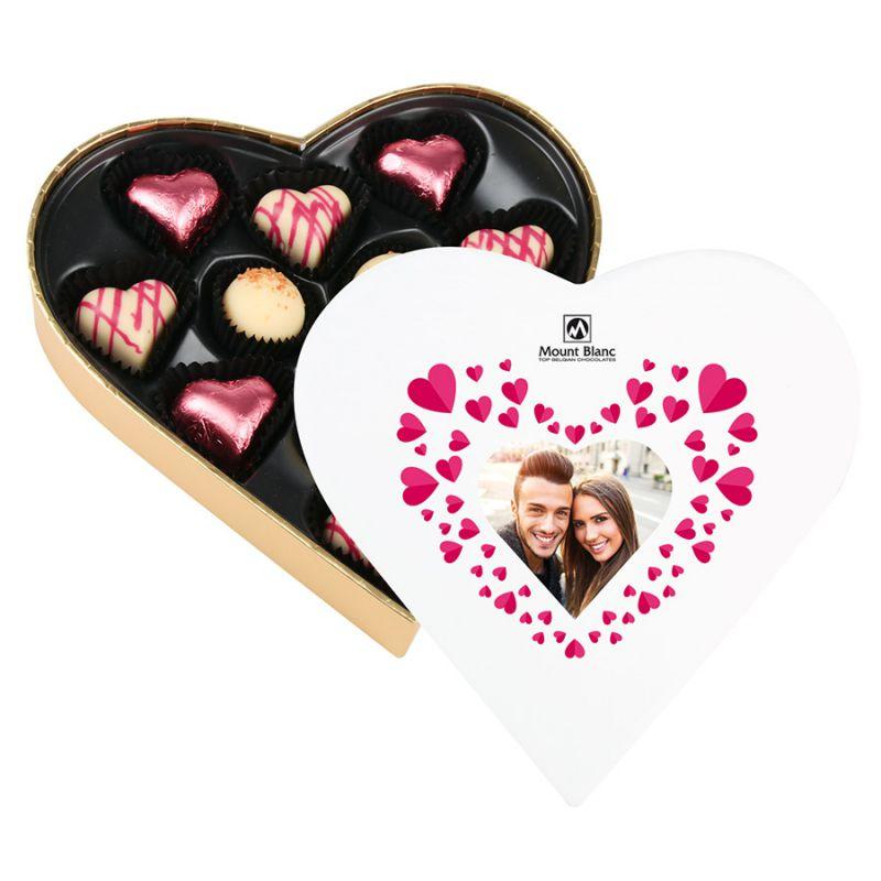 Czekoladki dla zakochanych Sweet Heart White Mini z Twoim zdjęciem