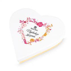Czekoladki dla kobiety Sweet Heart White Mini Najsłodsze życzenia