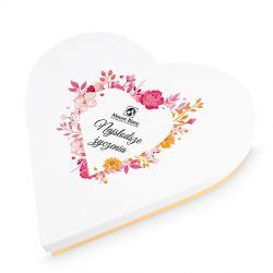 Czekoladki na Dzień Kobiet Sweet Heart White Maxi Najsłodsze życzenia