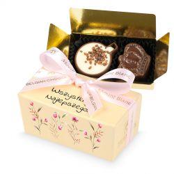Słodki upominek dla kobiety Mini Ballotin Cream no.1 Wszystkiego najlepszego