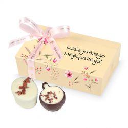 Czekoladki na Dzień Kobiet Mini Ballotin Cream no.3 Wszystkiego najlepszego