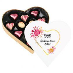 Czekoladki firmowe Sweet Heart White Mini Słodkiego Dnia Kobiet z Twoim logo