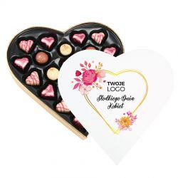 Czekoladki dla firm Sweet Heart White Maxi Słodkiego Dnia Kobiet z Twoim logo
