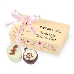 Czekoladki na Dzień Kobiet Mini Ballotin Cream no.3 z Twoim logo
