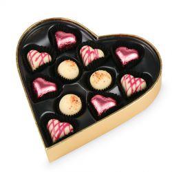Czekoladki na Dzień Kobiet Sweet Heart White Mini z Twoimi życzeniami