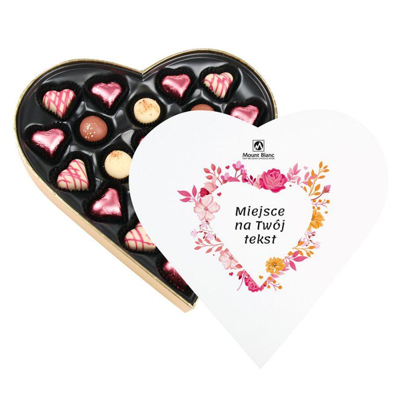 Czekoladki Sweet Heart White Maxi na Dzień Kobiet z Twoimi życzeniami