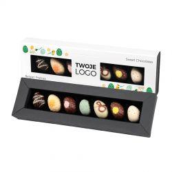 Czekoladki świąteczne Easter Elegance White no.2 z Twoim logo