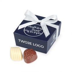 Czekoladki na Dzień Mężczyzny Mini Ballotin Blue no.2 z Twoim logo