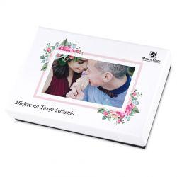 Czekoladki Premium White Mini z Twoim zdjęciem i życzeniami na rocznicę ślubu