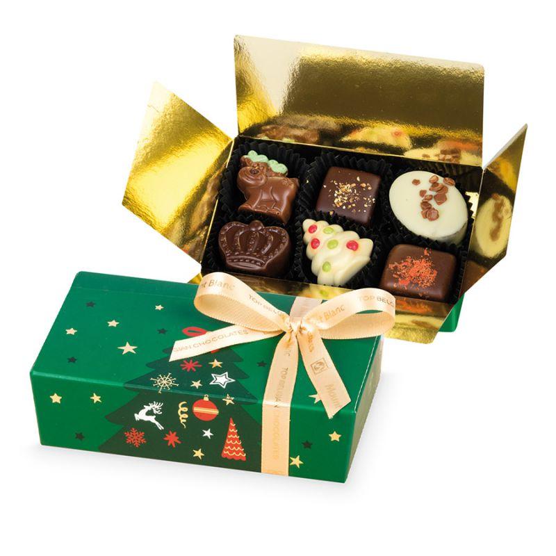 Pralinki na Boże Narodzenie Mini Ballotin Green no.3