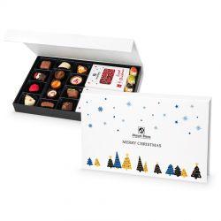 Zestaw Chocolate Box White no.1, słodkości pod Choinkę