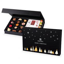 Zestaw Chocolate Box Black no.2, słodycze na Gwiazdkę