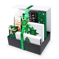 Christmas Gift Box Green-Gold no.8, słodkości na Święta