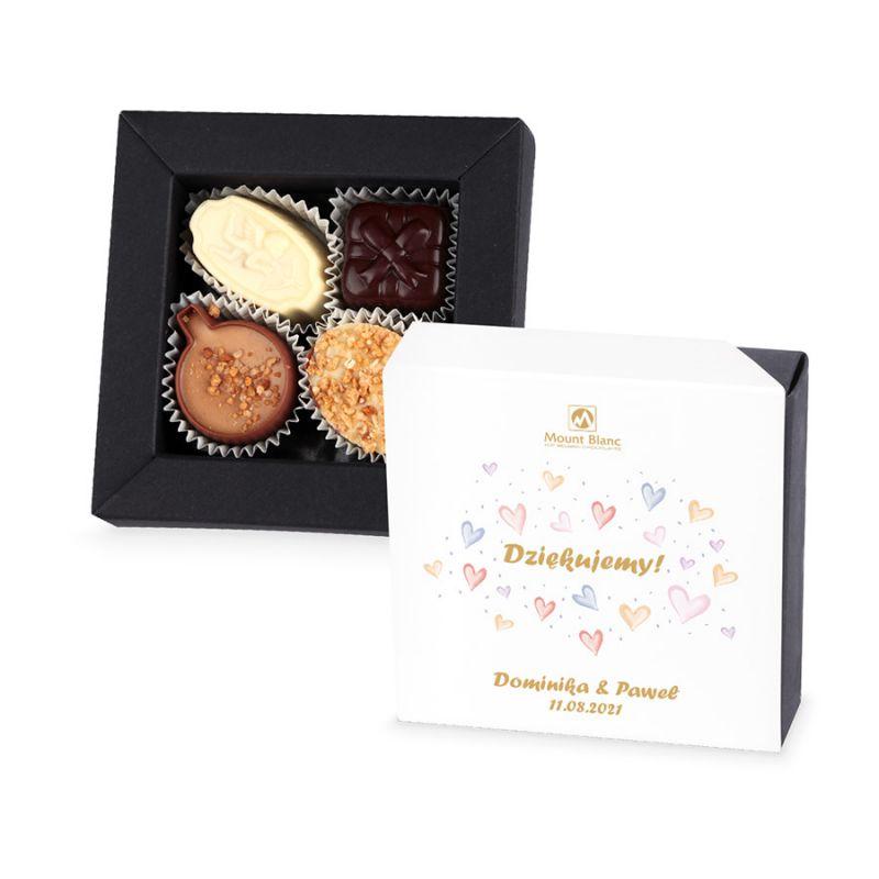 Czekoladki podziękowania dla gości weselnych Delights Mini no.2 z Twoim tekstem