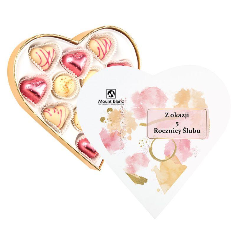 Czekoladki serduszka Sweet Heart White Mini na rocznicę ślubu