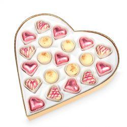 Czekoladki Sweet Heart White Maxi na rocznicę ślubu