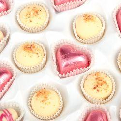 Czekoladki na rocznicę ślubu Sweet Heart White Maxi z Twoimi życzeniami