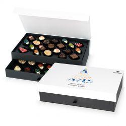 Prezent bożonarodzeniowy Chocolate Tower White z Twoimi życzeniami