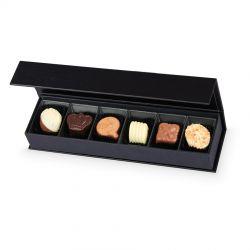 Czekoladowy upominek na Dzień Chłopaka Chocolate Box Long Black z imieniem