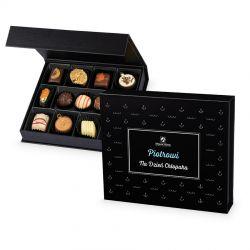 Czekoladki na Dzień Chłopaka Chocolate Box Medium Black z imieniem