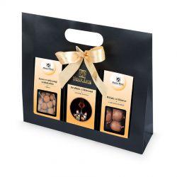 Gift Bag Black no.4, owoce w czekoladzie