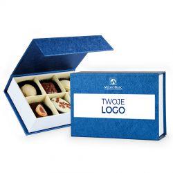 Czekoladki z logo firmy Finesse Blue z nadrukiem