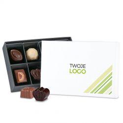 Czekoladki z logo dla firm Premium White Mini z nadrukiem