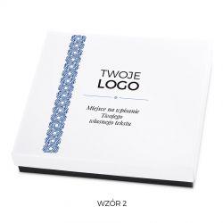Czekoladki z Twoim logo Premium White z nadrukiem