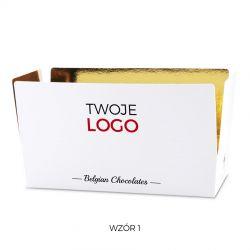 Czekoladki z logo Mini Ballotin White no.4 z nadrukiem