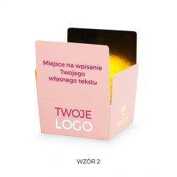 Czekoladki firmowe Mini Ballotin Pink no.2 z nadrukiem logo