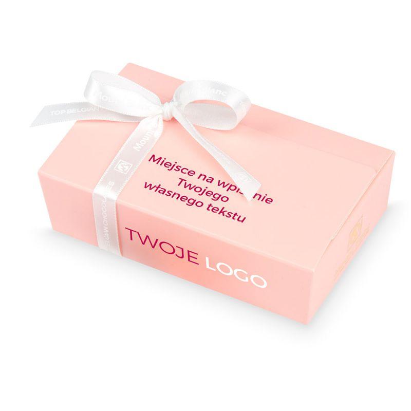 Mini Ballotin Pink no.3 z nadrukiem, słodycze reklamowe