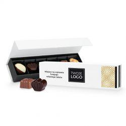 Bombonierka z logo Chocolate Box Long Mini z nadrukiem