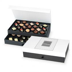 Czekoladowy prezent firmowy Chocolate Tower White z Twoim logo