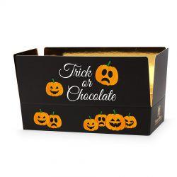 Słodki upominek na Halloween Mini Ballotin Black no.4 Trick or Chocolate