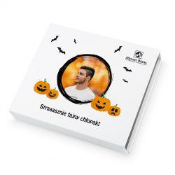 Bombonierka na Halloween Chocolate Box Medium Straaasznie fajny chłopak z Twoim zdjęciem