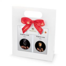 Zestaw Gift Bag White no.3, świąteczne belgijskie trufle