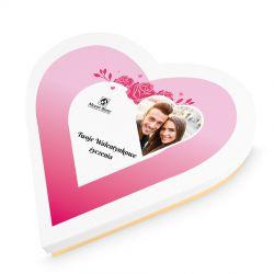 Prezent walentynkowy Sweet Heart Maxi z Twoimi życzeniami i zdjęciem