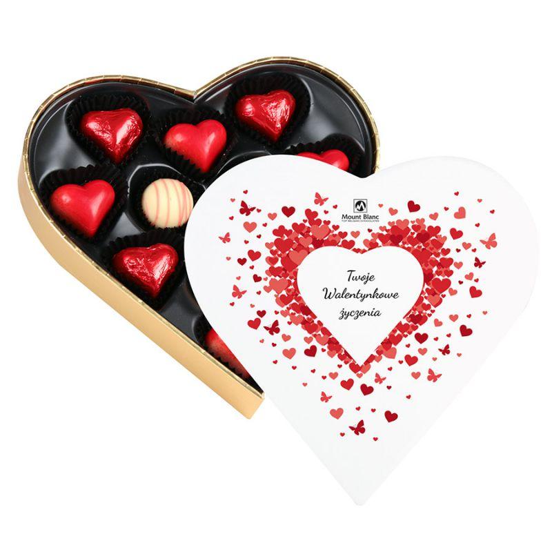 Czekoladki w kształcie serca Sweet Heart Mini z Twoimi życzeniami