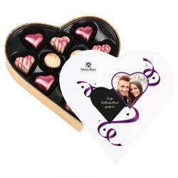 Bombonierka na Walentynki Sweet Heart Mini z Twoimi życzeniami i zdjęciem