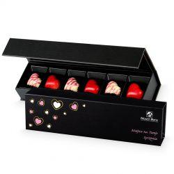 Bombonierka dla zakochanych Chocolate Box Long Black z Twoimi życzeniami