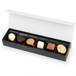Bombonierka dla kobiety Chocolate Box Long White z Twoimi życzeniami